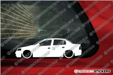 2x LOW Vauxhall / Opel Astra mk4 G 4-Door Sedan silhouette stickers, Decals